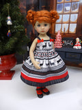 Norwegian Reindeer - dress, tights & shoes for Little Darling Doll or 33cm BJD