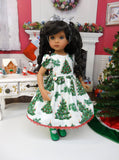 O Christmas Tree - dress, tights & shoes for Little Darling Doll or 33cm BJD