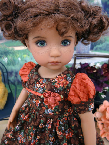 October Bouquet - dress, tights & shoes for Little Darling Doll or 33cm BJD