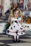 Ooh La La - dress, tights & shoes for Little Darling Doll