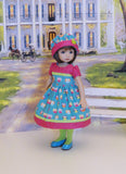 Owl Be Your Friend - dress, hat, tights & shoes for Little Darling Doll or 33cm BJD