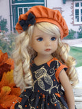 Owloween - dress, hat, tights & shoes for Little Darling Doll or 33cm BJD