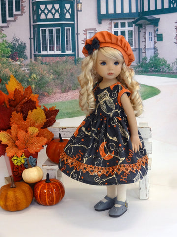 Owloween - dress, hat, tights & shoes for Little Darling Doll
