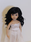 Paige Wig in Off Black - for Little Darling dolls