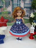Paisley Americana - dress, socks & shoes for Little Darling Doll or 33cm BJD