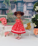 Paper Hearts - dress, socks & shoes for Little Darling Doll or 33cm BJD