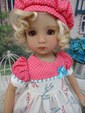 Paris by Day - dress, hat, socks & shoes for Little Darling Doll or 33cm BJD
