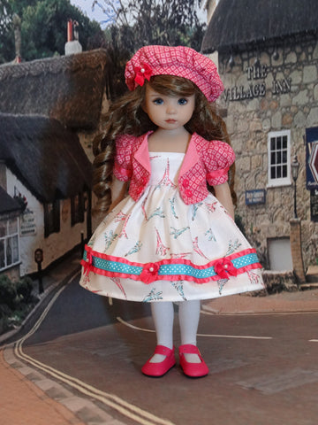 Paris Stroll - dress, jacket, beret, tights & shoes for Little Darling Doll