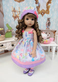 Pastel Easter - dress, hat, tights & shoes for Little Darling Doll or 33cm BJD