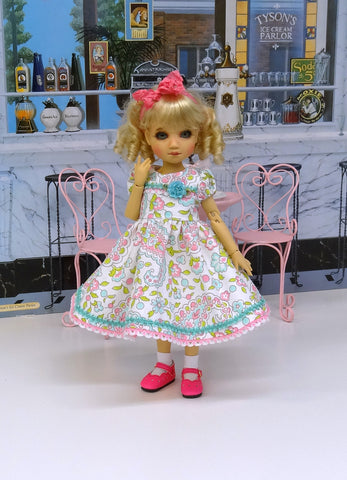 Pastel Paisley - dress, socks & shoes for Little Darling Doll or other 33cm BJD