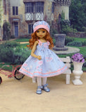 Pastel Wildflowers - dress, hat, tights & shoes for Little Darling Doll or other 33cm BJD