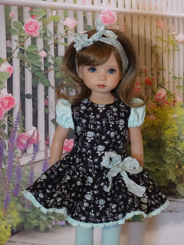 Patina Garden - dress, tights & shoes for Little Darling Doll
