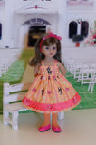 Peachy Deer - dress, jacket, tights and shoes for Little Darling Doll or 33cm BJD