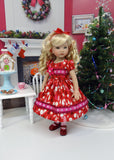 Peppermint Forest - dress, tights & shoes for Little Darling Doll or 33cm BJD
