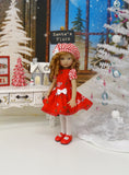 Peppermint & Holly - dress, beret, tights & shoes for Little Darling Doll or other 33cm BJD
