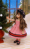 Peppermint Stick - dress, jacket, beret, socks & shoes for Little Darling Doll or 33cm BJD