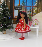 Peppermint Trees - dress, tights & shoes for Little Darling Doll or 33cm BJD