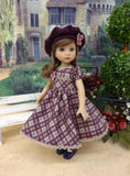 Perfectly Plaid - dress, hat, tights & shoes for Little Darling Doll or 33cm BJD
