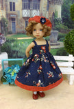 Persimmon Bouquet - dress, jacket, beret, socks & shoes for Little Darling Doll or 33cm BJD