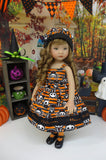 Pet Cemetery - dress, hat, tights & shoes for Little Darling Doll or 33cm BJD