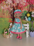 Peter Cottontail - dress, hat & sandals for Little Darling Doll