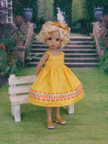 Petite Pineapple - dress & sandals for Little Darling Doll