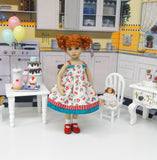 Pie Cherry - dress, socks & shoes for Little Darling Doll or 33cm BJD