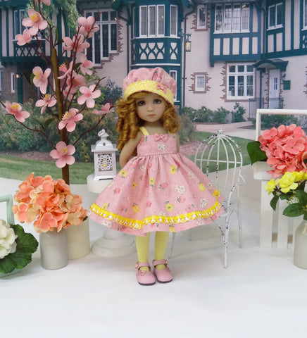 Piggy Bank - dress, hat, tights & shoes for Little Darling Doll or 33cm BJD