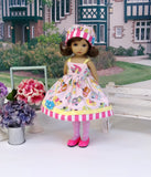 Pink Airstream - dress, hat, tights & shoes for Little Darling Doll or 33cm BJD