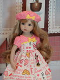 Pink Minnie - dress, hat, socks & shoes for Little Darling Doll or 33cm BJD