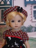 Plaid Scottie - dress, hat, tights & shoes for Little Darling Doll or 33cm BJD