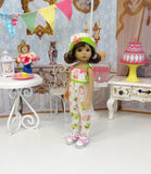 Playful Owl - romper, hat, socks & shoes for Little Darling Doll or 33cm BJD