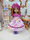 Playful Unicorn - dress, hat, tights & shoes for Little Darling Doll or 33cm BJD