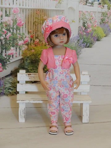Playtime Pink - romper, jacket, hat & sandals for Little Darling Doll