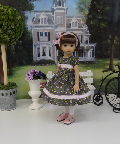 Plum Perfect - dress, tights & shoes for Little Darling Doll or other 33cm BJD