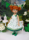 Pocket of Clovers - dress, tights & shoes for Little Darling Doll or 33cm BJD