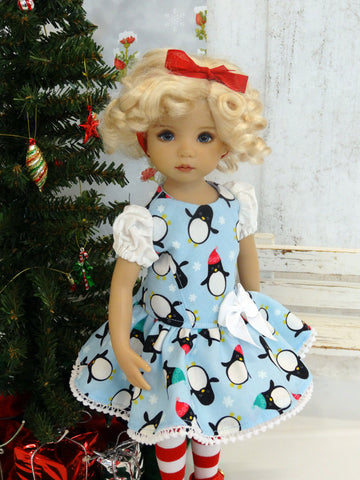 Polar Penguins - dress, tights & shoes for Little Darling Doll