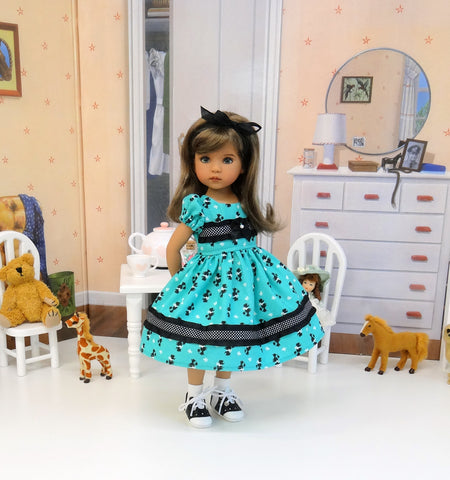Poodle Parade - dress, socks & saddle shoes for Little Darling Doll or 33cm BJD