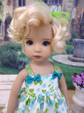 Poolside Roses - dress, tights & shoes for Little Darling Doll or 33cm BJD