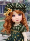 Pot of Gold - dress, beret, tights & shoes for Little Darling Doll or 33cm BJD