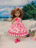 Pretty Flamingo - dress, socks & shoes for Little Darling Doll or 33cm BJD