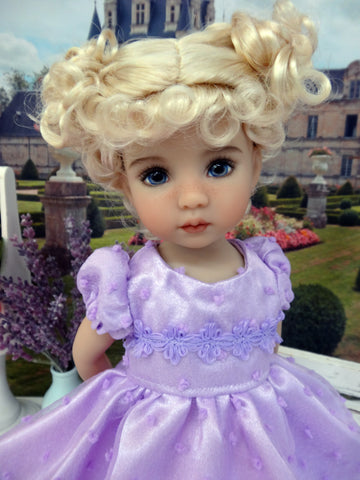 Pretty in Purple - dress, slip, tights & shoes for Little Darling Doll or 33cm BJD