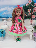 Pretty Petunia - dress & sandals for Little Darling Doll or 33cm BJD