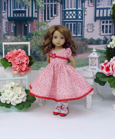 Pretty Posy - dress, socks & shoes for Little Darling Doll or other 33cm BJD