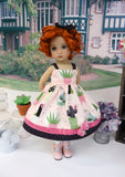 Prickly Cactus - dress, socks & shoes for Little Darling Doll or 33cm BJD