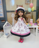 Princess Unicorn - dress, hat, tights & shoes for Little Darling Doll or 33cm BJD
