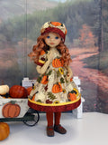Pumpkin Patch - dress, hat, tights & shoes for Little Darling Doll