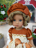 Pumpkin Pie - dress, beret, tights & shoes for Little Darling Doll or other 33cm BJD