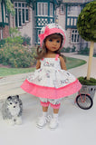Puppy Love - babydoll top, bloomers, hat, socks & tennis shoes for Little Darling Doll or 33cm BJD