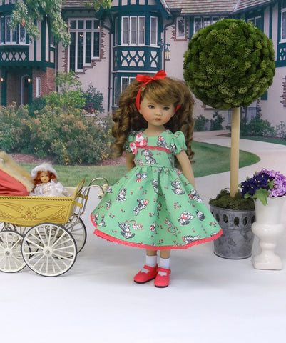 Puppy Spaniel - dress, socks & shoes for Little Darling Doll or other 33cm BJD